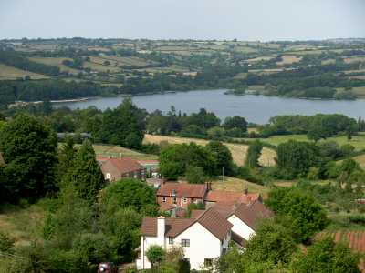 Blagdon Lake, overlooked by The Haven Healing Centre